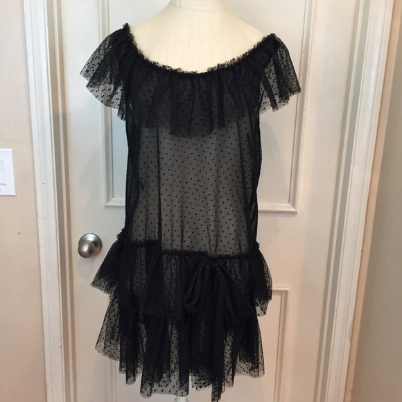 Forever 21 Dresses Black Sheer Lace Flapper Style Dress Poshmark
